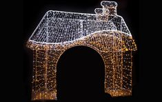 Christmas Arch, Christmas Photos, Christmas Crafts, Old Postcards, Park, Building, Handmade, Decor, Christmas Ornaments