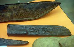 Viking artifacts, Decorated knife sheavesFindspot at Jorvik / York, England