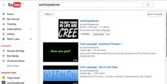 This is a youtube site called want2speakcree.  It has videos to help you to learn the Cree Language.