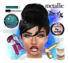 """""""Shine On: Metallic Makeup"""" by naty-11-11 ❤ liked on Polyvore featuring beauty, Stila, Tom Ford and Christian Dior"""