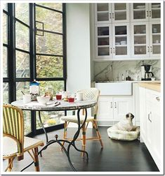 french bistro style kitchen. all pulls, no knobs. The Dangerous Side of Creativity | Maria Killam