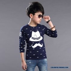 Cheap Boys T-shirt 2016 Spring New Children's Kids Long-sleeved Casual Shirt Sale Online
