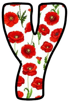 Buchstabe - Letter Y Alphabet Style, Alphabet And Numbers, Letter Templates, Poppies, Scripts, Fonts, Frases, Spanish Alphabet, Decorated Letters