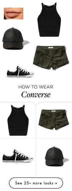"""Untitled #421"" by bibriezcaguadalupe on Polyvore featuring Abercrombie & Fitch and Converse"