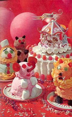 Circus ice cream cakes
