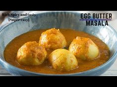 Learn how to make the BEST restaurant style egg butter masala with step by step hindi video! Best served with parathas & steamed rice. Tofu Curry, Egg Curry, Egg Recipes Indian, Hindi Video, Steamed Rice, Curry Recipes, Spicy, Coconut, Butter