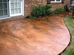 to Acid Stain a Concrete Floor We should paint or stain our concrete Acid-stained Concrete. love this- it looks like a copper walkwayWe should paint or stain our concrete Acid-stained Concrete. love this- it looks like a copper walkway Outdoor Spaces, Outdoor Living, Outdoor Decor, Outdoor Stuff, Outdoor Life, Br House, House Front, Backyard Patio, Diy Patio