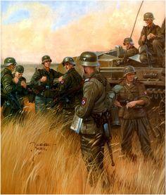 Military Diorama, Military Art, Military History, German Soldiers Ww2, German Army, Ww2 Propaganda Posters, Military Drawings, Germany Ww2, World War One