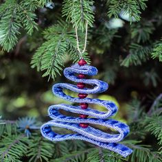 Denim Tree Ornament made from upcycled denim from Haiti