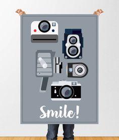 Vintage cameras print, polaroid wall art, film camera print, camera clip art, camera printable, instant download, vintage camera poster by HappyLittleFrog on Etsy