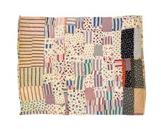 Original Design c.1930-1950 from Unconventional & Unexpected: American Quilts Below the Radar 1950-2000 by Roderick Kiracofe http://www.abramsbooks.com/Books/Unconventional_and_Unexpected__American_Quilts_Below_the_Radar_1950-2000-9781617691232.html