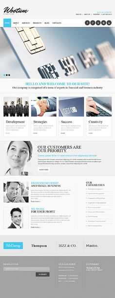 Template 47331 - Business  Responsive Website Template