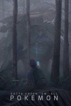 #Pokemon Encounter Art via Reddit user BigBawwss