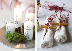 weihnachtstischdeko einfache ideen mit zimtstangen beeren und moos