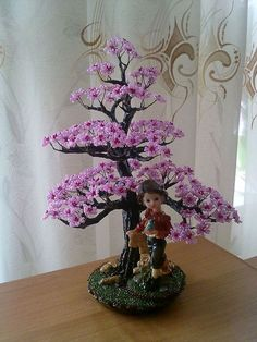 Beaded spring blossom Tree TUTORIAL