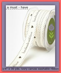 "Ribbon for your best crafting & sewing projects! This 3/4"" x 30 yard roll is all…"