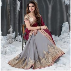Royal Saree via Aura Boutique. Click on the image to see more!