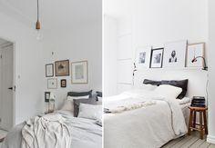 Idee per letti senza testiera le mensole casa da sogno camera da letto bedroom comfy - Stencil testiera letto ...