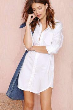 white shirt tunic dress