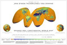 Orange Peel Continental World Map (2013)