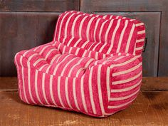 For the kids!! Kid Chair - Pinkberry Stripe Chenille | Gifts by Lovesac #ultimategift