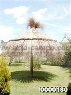 1000 images about sombrillas en paja y o lona on for Sombrillas para jardin