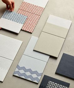 LIntroducing Tape from Mutina by design firm Raw Edges. They've designed a unique tile collection that consists of different coloured… Modern Bathroom Tile, Bathroom Tile Designs, Bathroom Trends, Bathroom Colors, Bathroom Vintage, Boho Bathroom, Bathroom Ideas, Terrazzo, 2020 Design