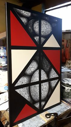 #acryliconcanvas #acrylicpainting #freehandpainting #ancientireland #geometricart Geometric Art, Hand Painted, Free