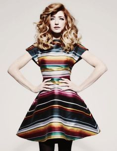 That waist is ridiculous but the dress is fab.
