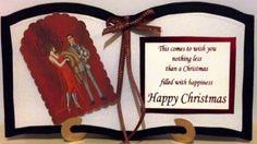 Art deco bookatrix christmas card | Paulines Passions MISI Handmade Shop