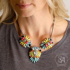 Sunset Bliss Statement Necklace