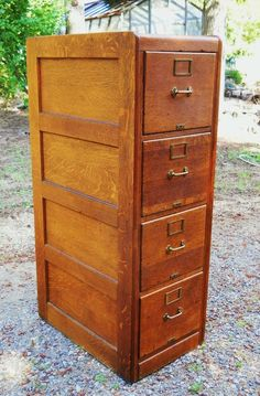 1890 Mission Oak Filing Cabinet