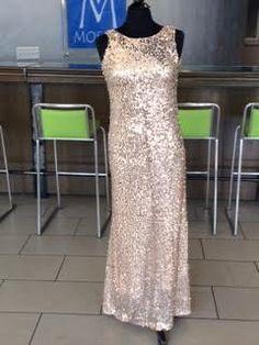 Champagne Sequin Ballgown