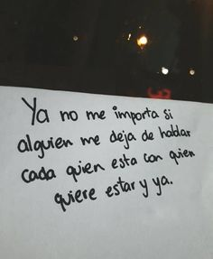 Ya no me importa* Fact Quotes, True Quotes, Words Quotes, Qoutes, Cute Spanish Quotes, Magic Quotes, Facebook Quotes, Quotes About Everything, Love Phrases