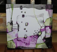 New collection Zen Abstract 12 x 12 cradled board   by JodiOhl