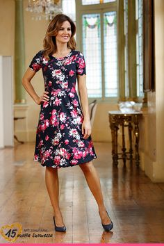 Jerseymekko Short Sleeve Dresses, Dresses With Sleeves, Rose, Casual, Vintage, Style, Fashion, Scale Model, Swag