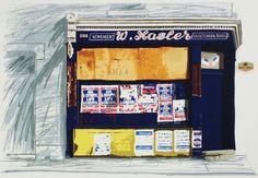 Mr Hasler's Shop, screenprint