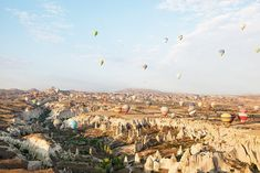 The fleet of hot air balloons flying over Turkey is a sight to see, and we'd love to take part in one someday.