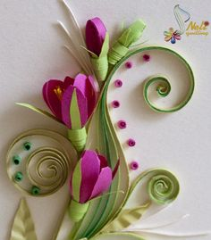 Neli Quilling Art: Quilling card-flower
