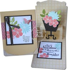 Stampin' Up! Pop N Cuts: pop up flowerpot by -stamp with tami