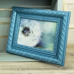 Turquoise Metallic Frame project from DecoArt