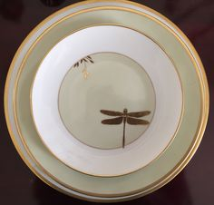 Celadón. Kate Spade June Lane (Platinum Trim) Dinner Plate by Lenox China