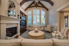 Stunning, bright living room interior design by Lisman Studio