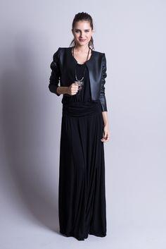 Jaqueta Couro + Vestido Monica preto !