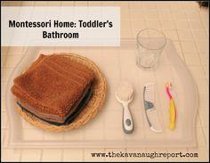 Montessori toddler bathroom