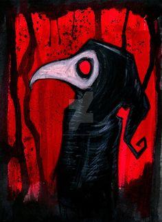 Black Plague Archival Print in 4 by 6 Inch Frame Dark Fantasy Art, Dark Art, Imagenes Dark, Plague Knight, Memes Arte, Doctor Mask, Black Death, Creepy Art, Small Art