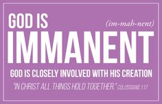 God is Immanent