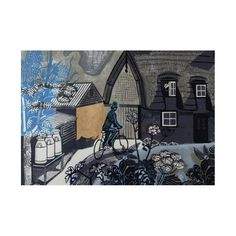 Edward Bawden's linocut, bought by the Fry Art Gallery in 2009.  Message reads 'Seasons Greetings'.  Pack of ten.  Size 120x170mm    £5.95  From Artfund
