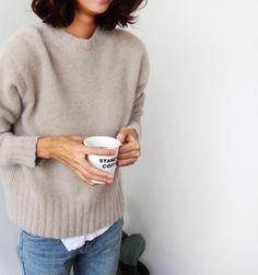 Knit jumper & skinny jeans