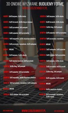 Styczniowe wyzwanie: zbuduj formę! - Codziennie Fit Mouth Sores, Gymnastics Workout, Fitness Workout For Women, Fitness Planner, Good Habits, Training Plan, Transformation Body, Workout Challenge, Perfect Body